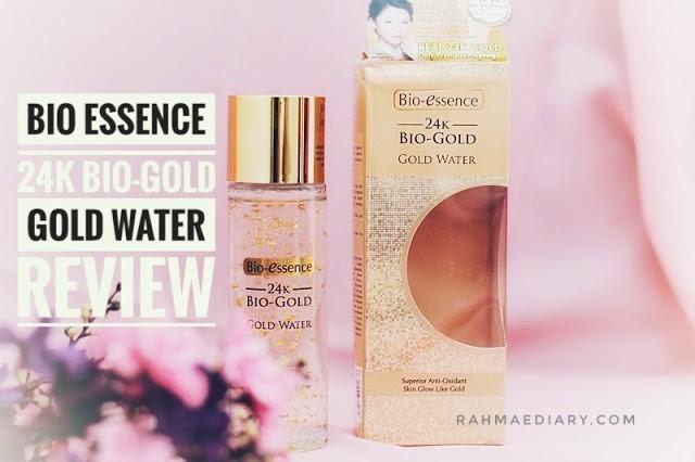 24K BIO-ESSENCE GOLD WATER REVIEW RAHMALIA