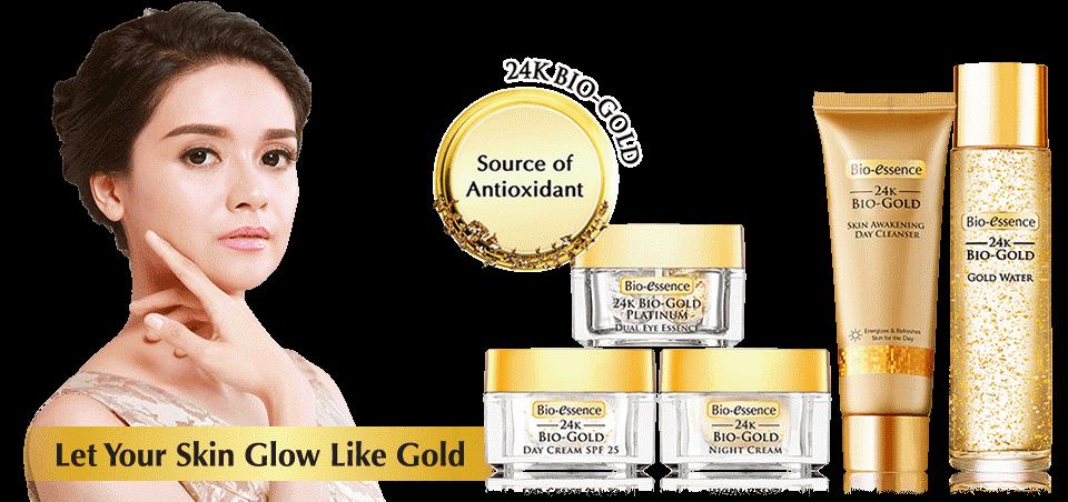 24K Bio-Gold Gold Water Packaging