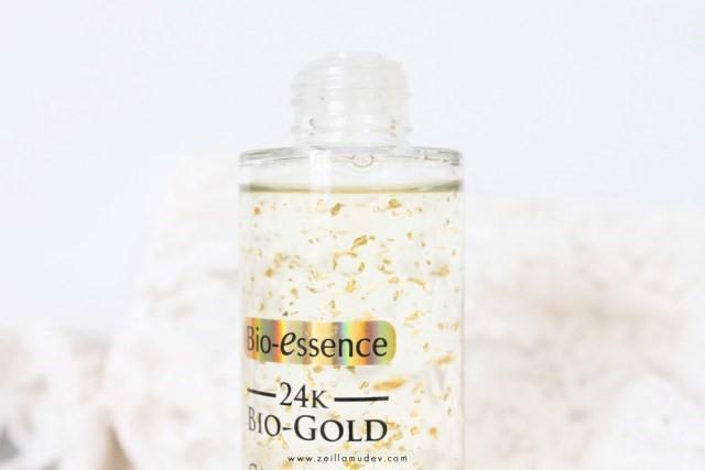 Botol BIO-ESSENCE GOLD WATER ANTI-AGING PEMULA Review Zeila-3
