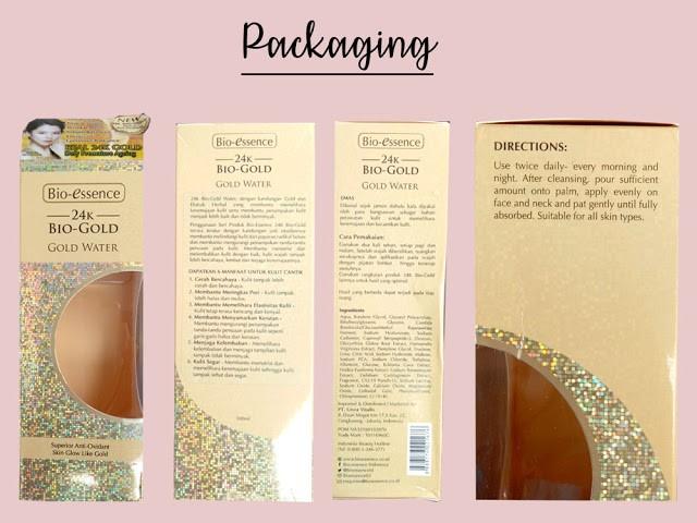 Packaging Bio-essence 24K Bio-Gold Gold Water Liana Eka-3