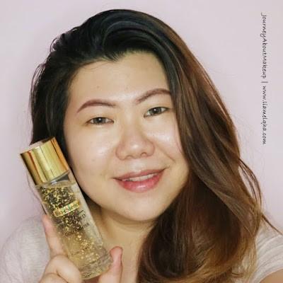 Blogger Lia Melqha dengan 24K Bio-Gold Gold Water -8