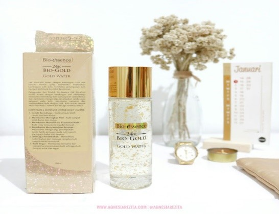 Kandungan Bio-Essence Gold Water Review Agnesia