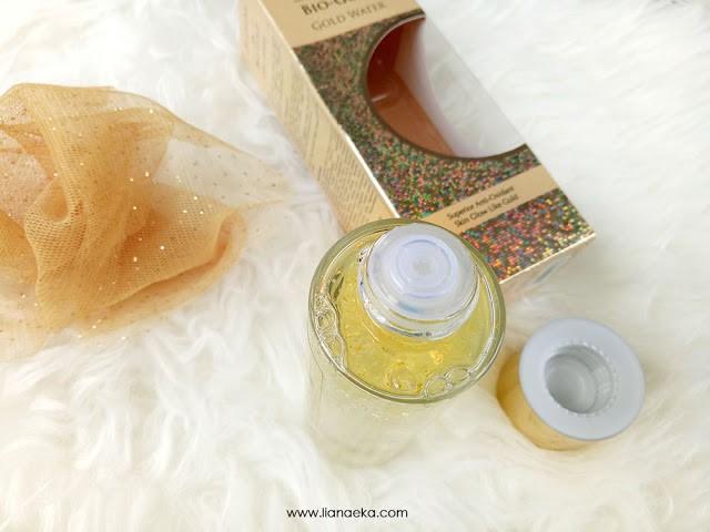 Packaging Botol Bio-essence 24K Bio-Gold Gold Water Liana Eka-4