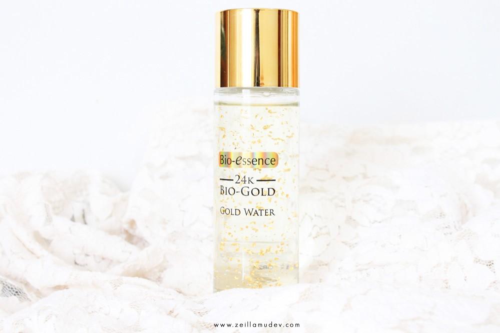 REVIEW BIO-ESSENCE GOLD WATER, ANTI-AGING PEMULA dari Blogger Zeila